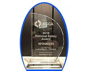 重磅消息!澳兰荣获澳大利亚玻璃协会全国安全奖!
